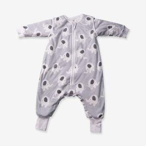 Babyboo Snuggleboo Sleepsuit Grey Ellie Elephant 2.5 Tog