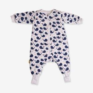 Babyboo Snuggleboo Sleepsuit Love Whales 2.5 Tog