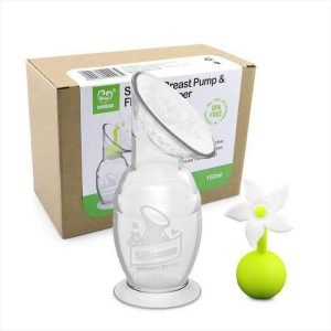 Haakaa Silicone Breast Pump with White Flower Stopper