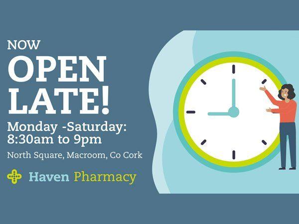 Haven Pharmacy Burkes Macroom 6 - Late Opening